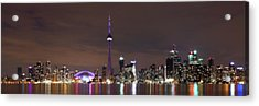 Downtown Toronto - Lit Up Acrylic Print