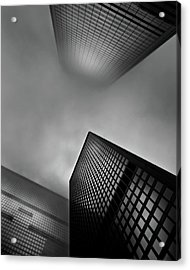 Acrylic Print featuring the photograph Downtown Toronto Fogfest No 1 by Brian Carson