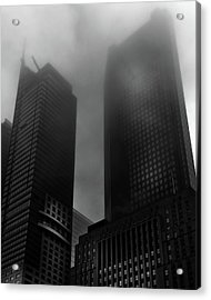 Acrylic Print featuring the photograph Downtown Toronto Fogfest No 2 by Brian Carson