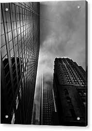 Acrylic Print featuring the photograph Downtown Toronto Fogfest No 4 by Brian Carson