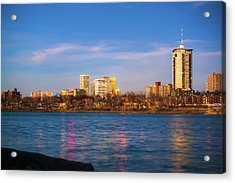 Acrylic Print featuring the photograph Downtown Tulsa From A Distance - Oklahoma Skyline  by Gregory Ballos