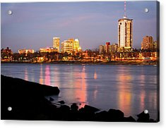 Downtown Tulsa Oklahoma - University Tower View Acrylic Print by Gregory Ballos