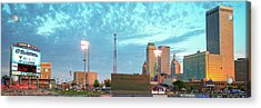 Downtown Tulsa Skyline Panoramic From Oneok Stadium Acrylic Print by Gregory Ballos