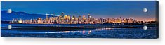 Downtown Vancouver From Spanish Banks Beach Acrylic Print