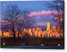 Downtown Vancouver Acrylic Print by Paul Kloschinsky