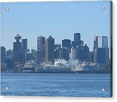 Downtown View From North Vancouver Acrylic Print