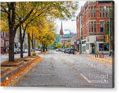 Acrylic Print featuring the photograph Downtown Winona Painting Effect by Kari Yearous