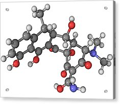 Doxycycline Antibiotic Molecule Acrylic Print by Laguna Design