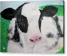 Acrylic Print featuring the painting Dozing by Barbara Giordano