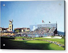 Dp World Tour Championship 2015 - Open Edition Acrylic Print by Mark Robinson