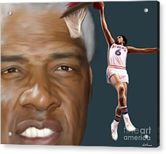 Dr J Now And Then Acrylic Print