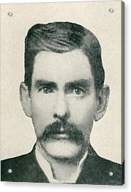 Dr. John H. Holliday 1851-1887 Was An Acrylic Print by Everett