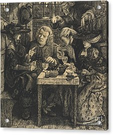 Dr Johnson At The Mitre Acrylic Print by Dante Gabriel Charles Rossetti
