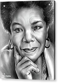 Dr Maya Angelou Acrylic Print by Greg Joens