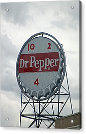 Dr. Pepper Sign - Roanoke Virginia Acrylic Print by Suzanne Gaff