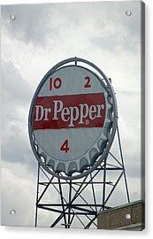 Dr. Pepper Sign - Roanoke Virginia Acrylic Print