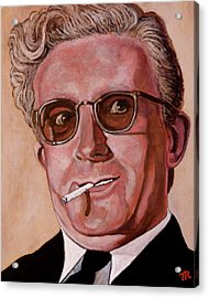 Acrylic Print featuring the painting Dr Strangelove 2 by Tom Roderick