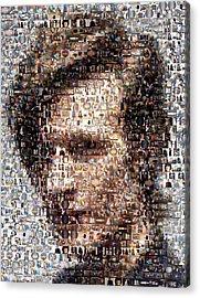 Dr. Who Mosaic Acrylic Print by Paul Van Scott