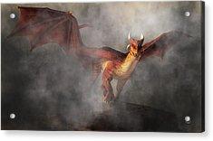Draco Acrylic Print by Daniel Eskridge