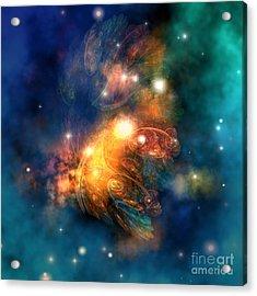 Draconian Nebula Acrylic Print by Corey Ford