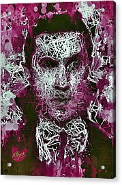 Acrylic Print featuring the mixed media Dracula by Al Matra