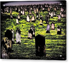 Dracula Cemetery In Whitby England Acrylic Print by Jen White