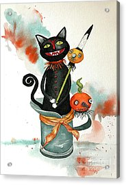 Dracula Vintage Cat Acrylic Print