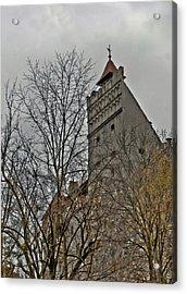 Dracula's Castle Transilvania In Hdr Acrylic Print
