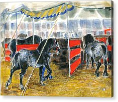 Drafts At The Fair Acrylic Print by Mary Armstrong