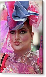 Drag Queen Gay  Pride Parade Nyc 6 27 10 Acrylic Print