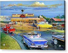 Dragging The Circle - Hub Diner Acrylic Print