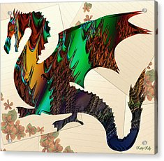 Drago Acrylic Print by Kathy Kelly