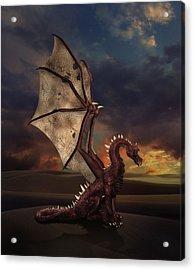 Dragon At Sunset Acrylic Print