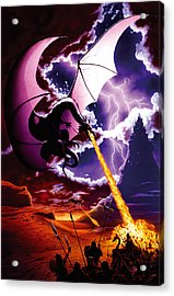 Dragon Attack Acrylic Print by The Dragon Chronicles - Steve Re