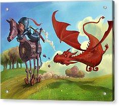Dragon Chase Acrylic Print