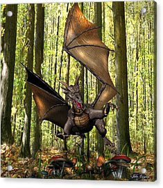 Dragon 'edwin' - Dropping In For A Snack Acrylic Print