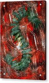 Dragon Fire Acrylic Print by Nancy TeWinkel Lauren
