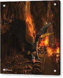 Dragon Flame Acrylic Print