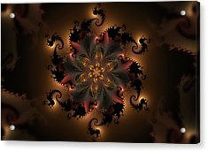 Dragon Flower Acrylic Print by GJ Blackman