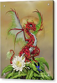 Acrylic Print featuring the digital art Dragon Fruit Dragon by Stanley Morrison