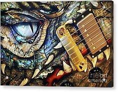 Dragon Guitar Prs Acrylic Print