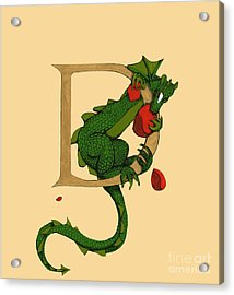 Dragon Letter D 2016 Acrylic Print by Donna Huntriss