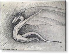 Dragon Man Acrylic Print by Shaun McNicholas