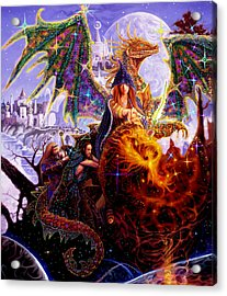 Dragon Master's Apprentice Acrylic Print by Steve Roberts