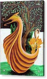 Dragon Olive Tree Acrylic Print