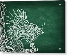 Dragon On Chalkboard Acrylic Print by Setsiri Silapasuwanchai
