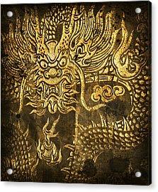 Dragon Pattern Acrylic Print by Setsiri Silapasuwanchai