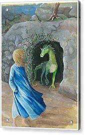 Dragon Princess 1 Acrylic Print by Sally Balfany
