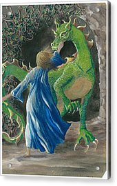 Dragon Princess 3 Acrylic Print by Sally Balfany