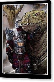 Dragon Rider02 Acrylic Print by Roel Wielinga